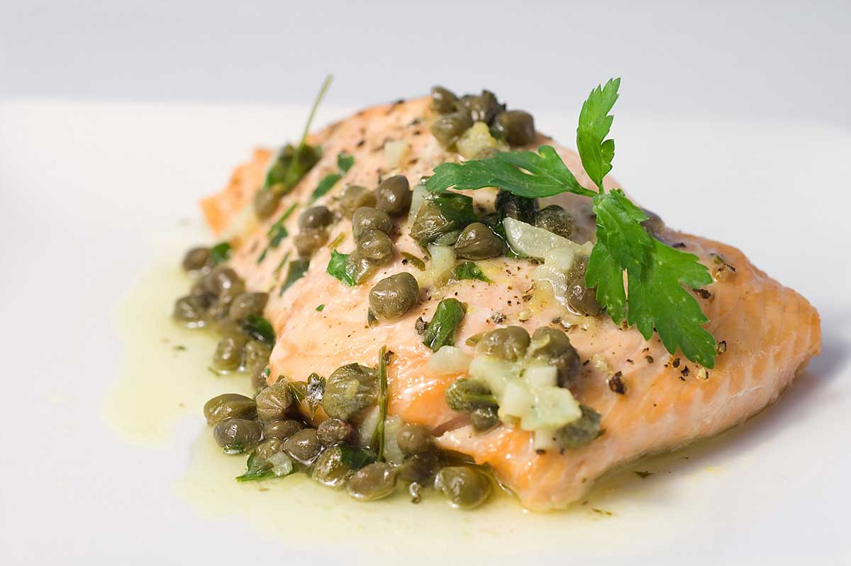 Wild Baked Salmon With Basil Butter Recipes — Dishmaps