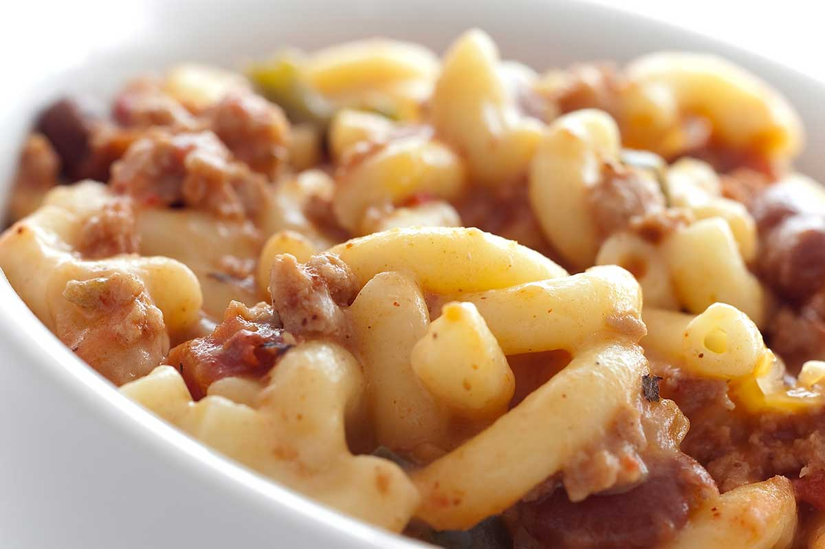 Recipe for Cheesy Chili Mac - Life's Ambrosia Life's Ambrosia