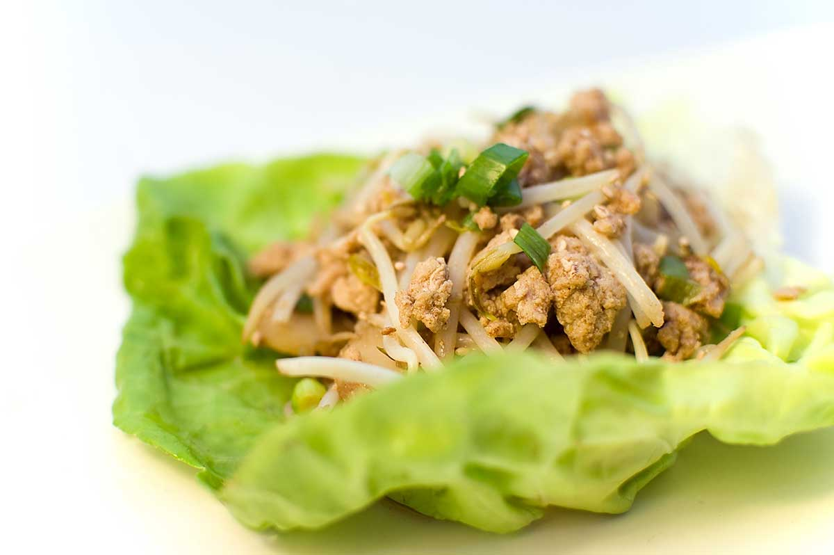 larb thai chicken larb scrambled egg wrap pork larb lettuce wrap