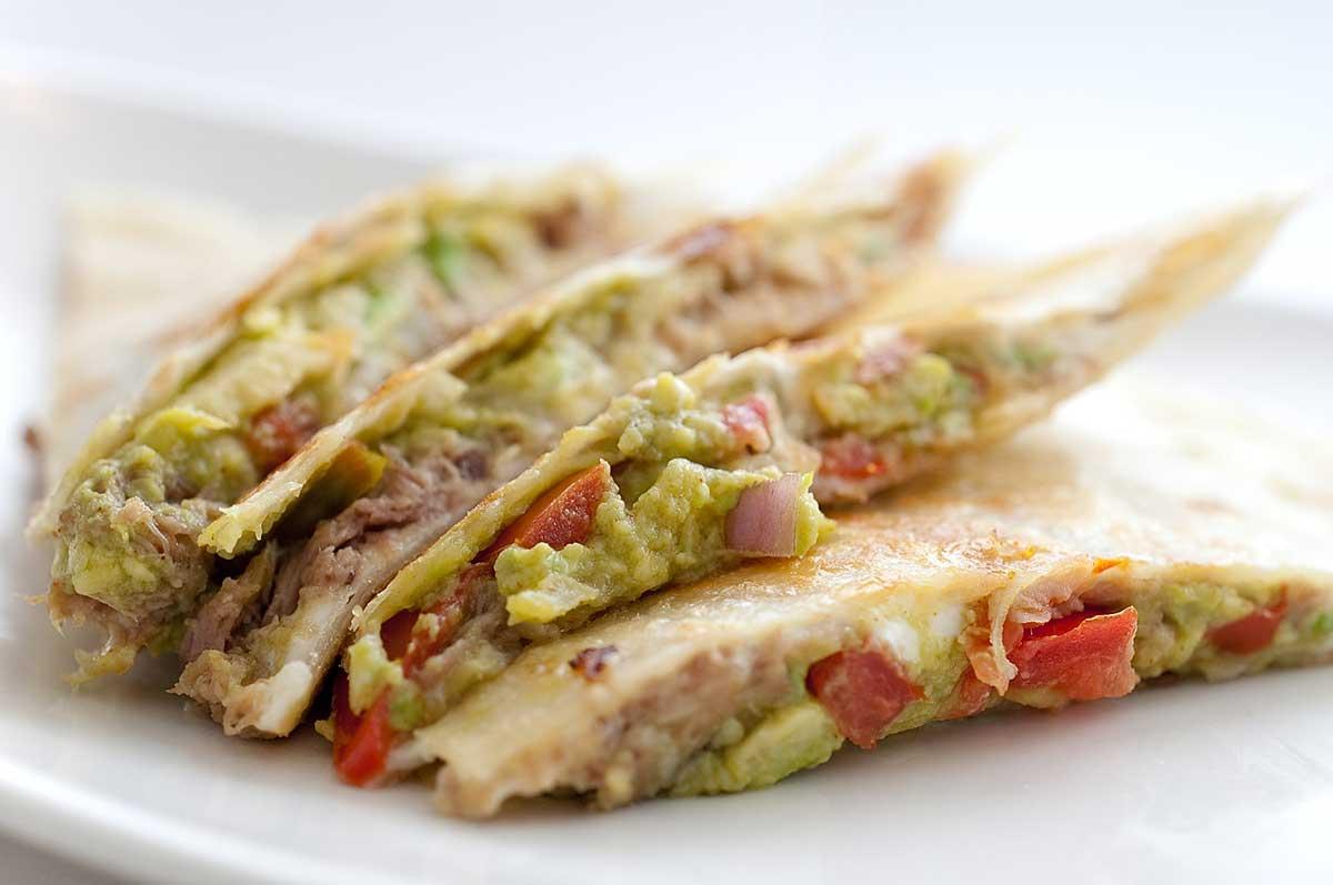 Recipe for Chile Pork Quesadilla - Life's Ambrosia Life's Ambrosia