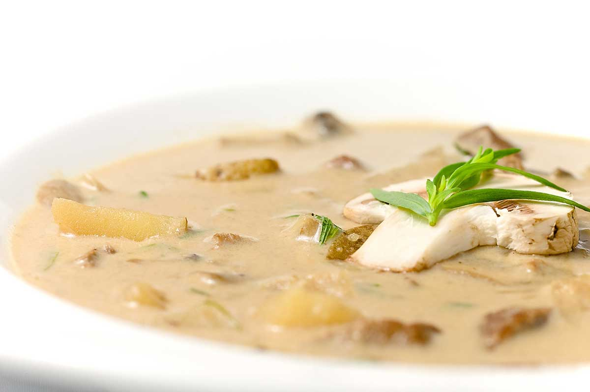 Creamy Steak and Mushroom Soup