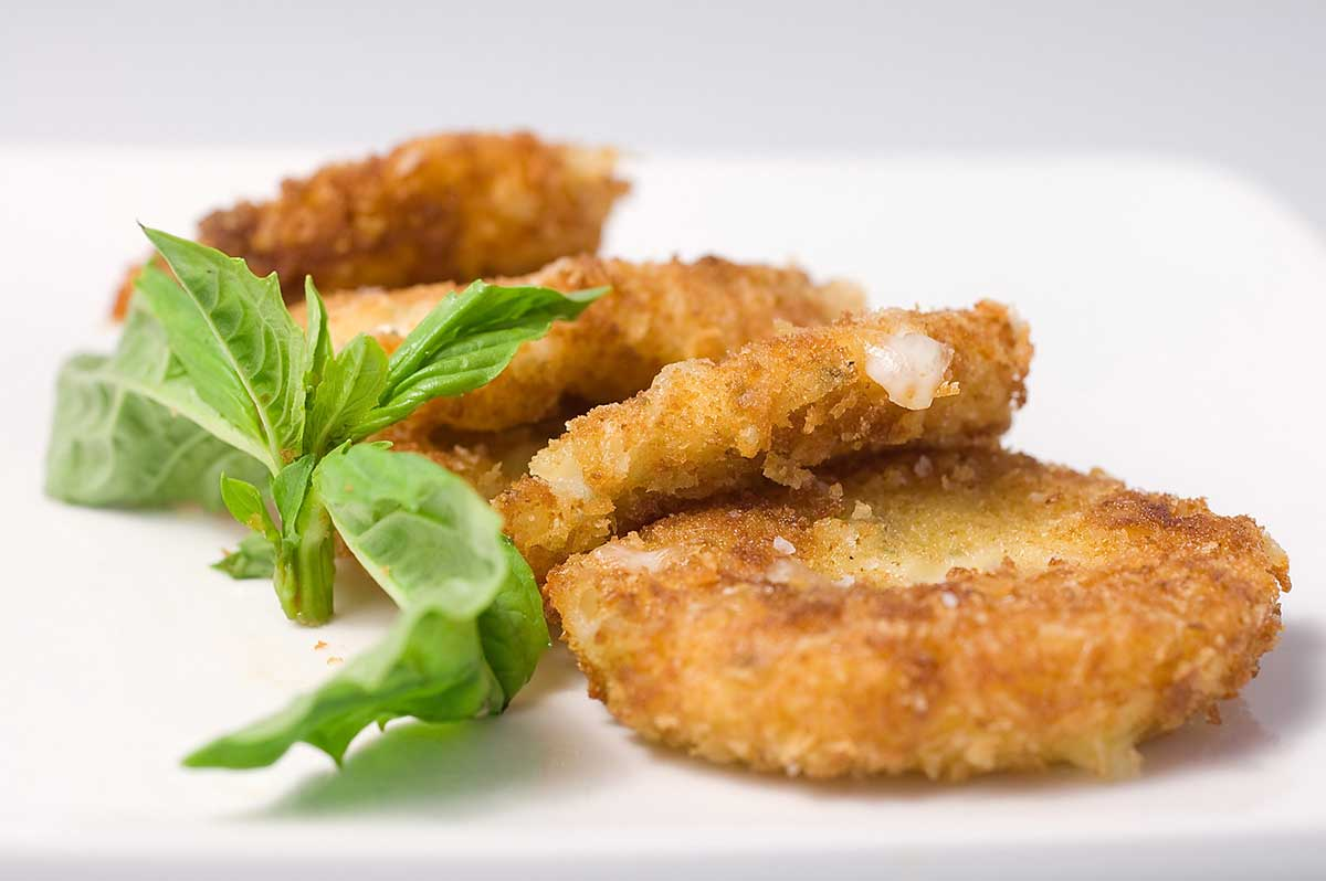 Crispy Marinated Mozzarella