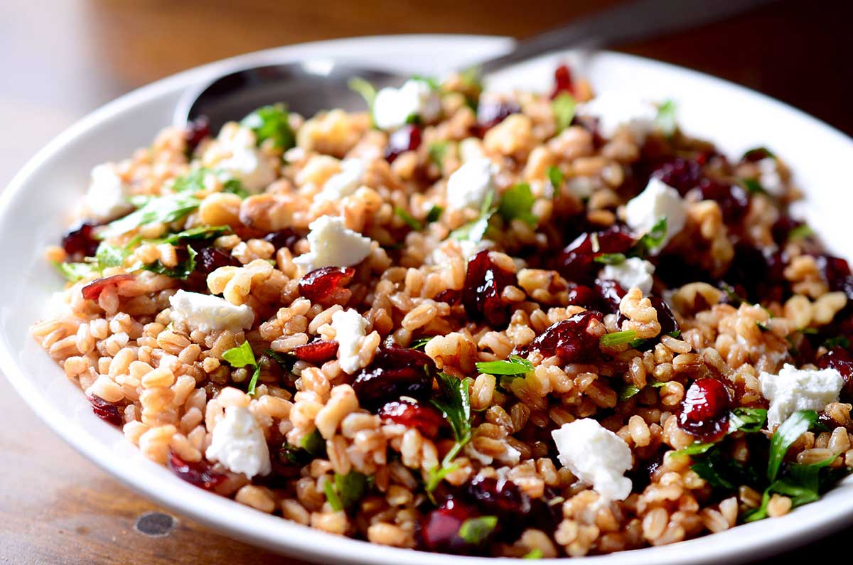 Farro, Cranberry and Goat