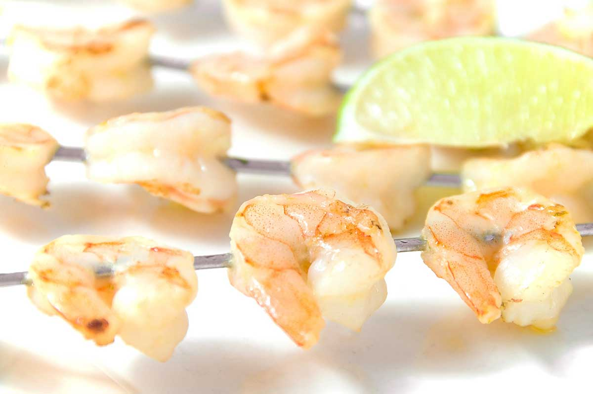 Garlic and Lime Shrimp Skewers