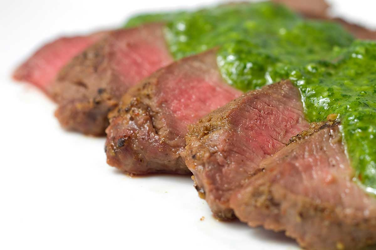 Grilled Flat Iron Steak With Chimichurri Sauce Recipe on chimichurri steak