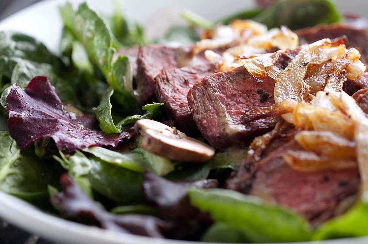 Grilled Steak Salad with Dijon Vinaigrette