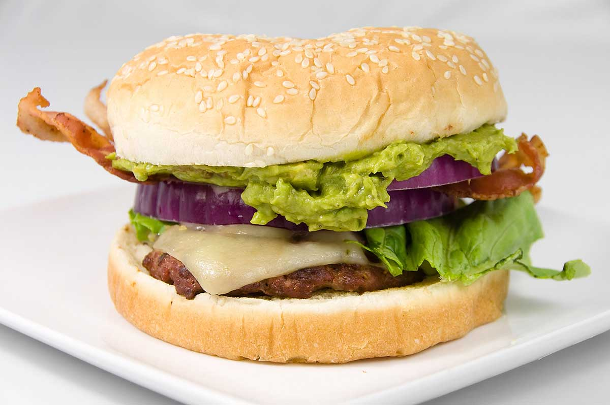 Guacamole Bacon Cheeseburger