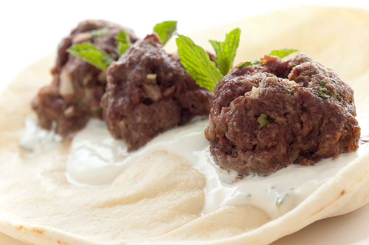 Recipe for Lamb Meatball Gyro with Mint Yogurt Sauce ...