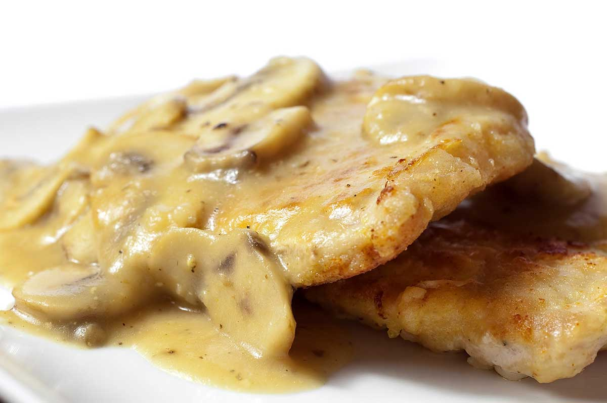 Pork Chops With Mushroom Bourbon Cream Sauce Recipes — Dishmaps