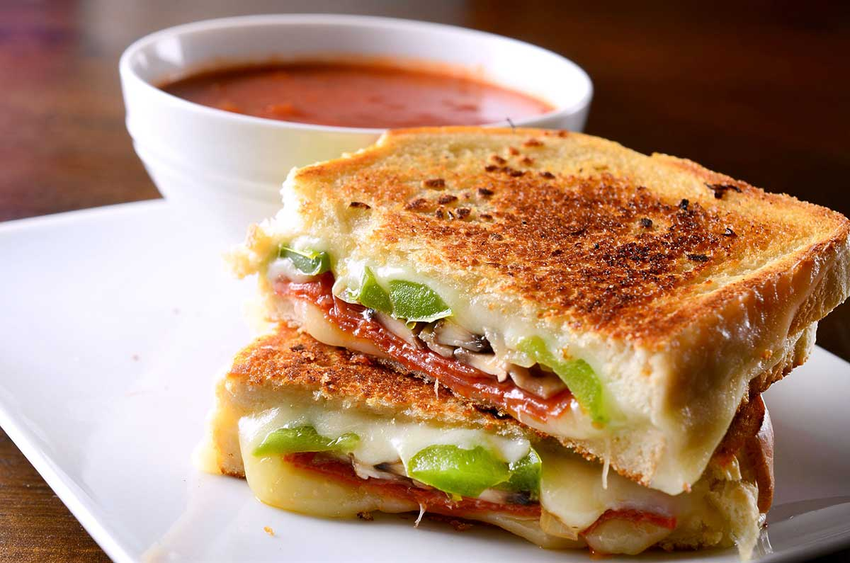Pepperoni Pizza Grilled Cheese  Gourmet Grilled Cheese Sandwich