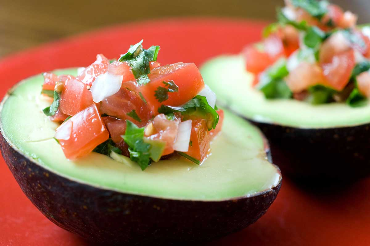 Pico de Gallo Stuffed Avocados