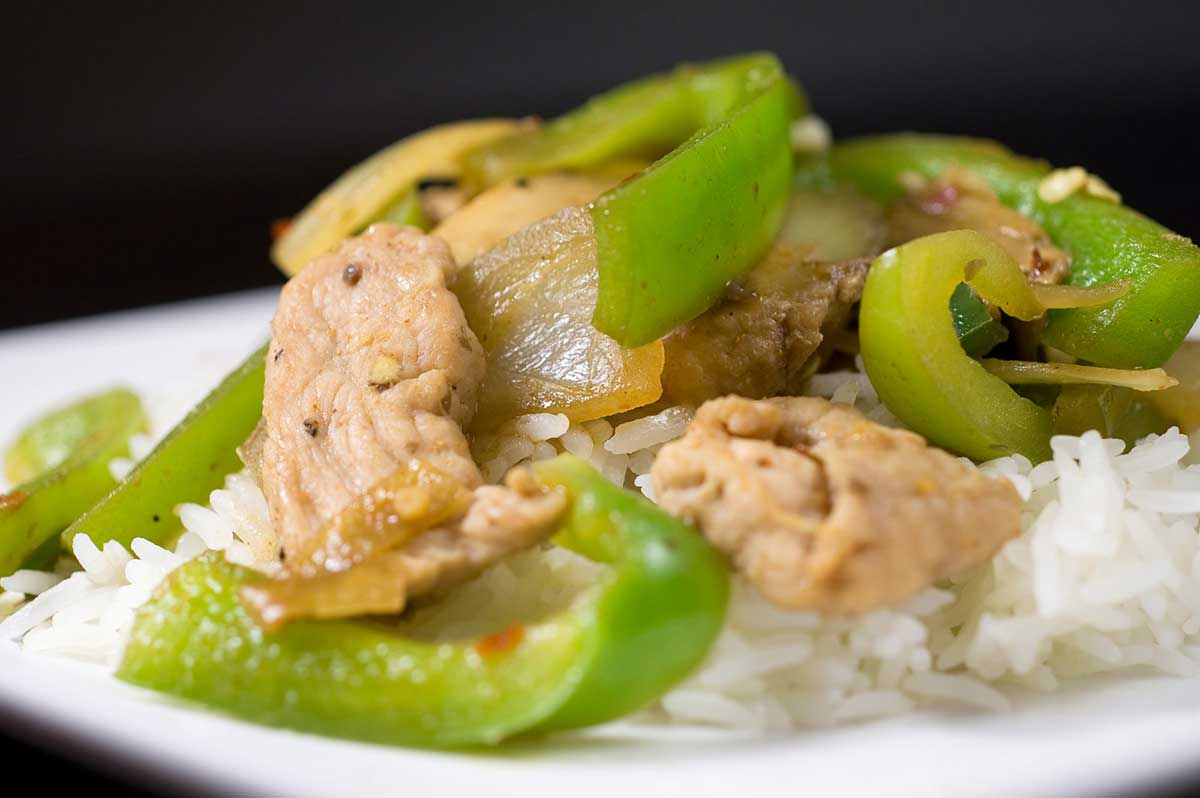 Recipe for Pork Stir Fry with Peppers and Mushrooms - Life's Ambrosia ...