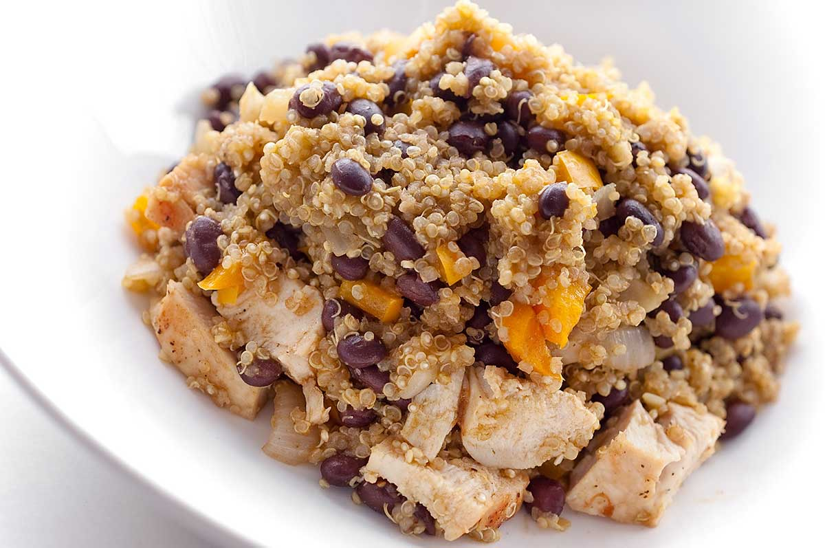 Quinoa with Chicken and Black BeansQuinoa Chicken Recipes