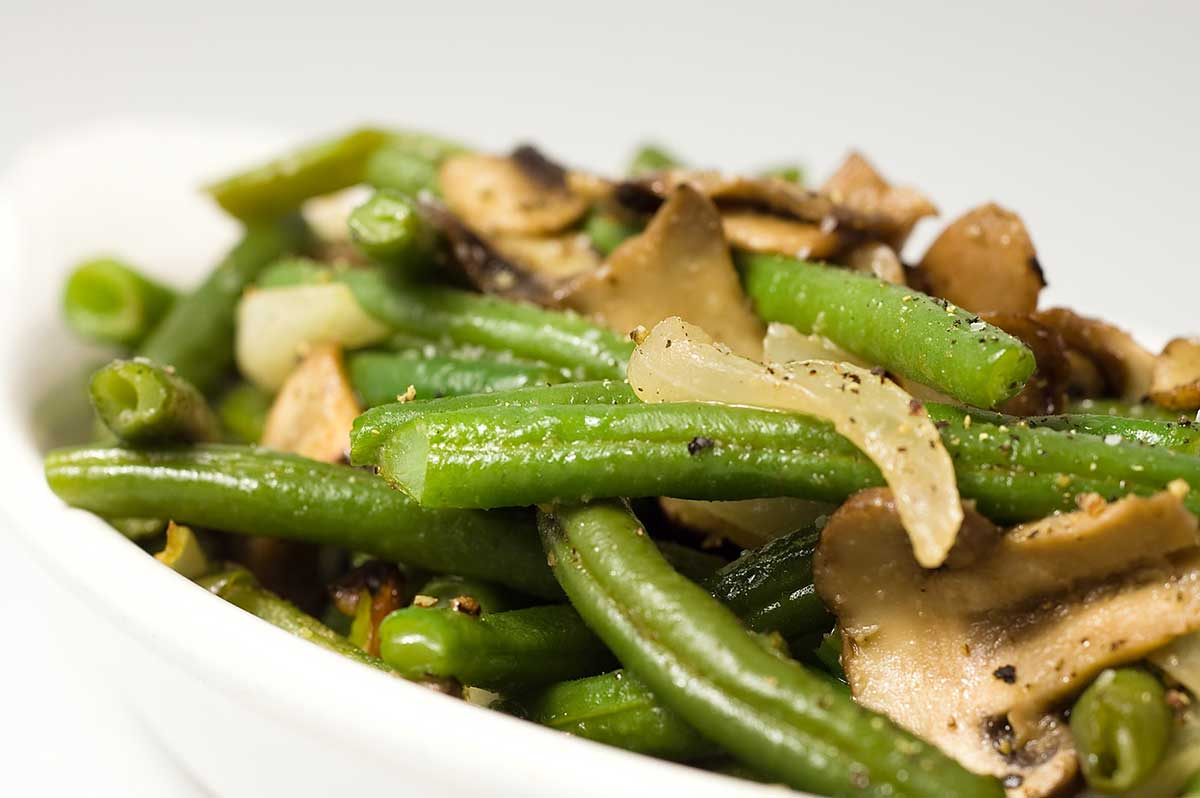 Recipe for Sauteed Green Beans with Mushrooms and Onions ...