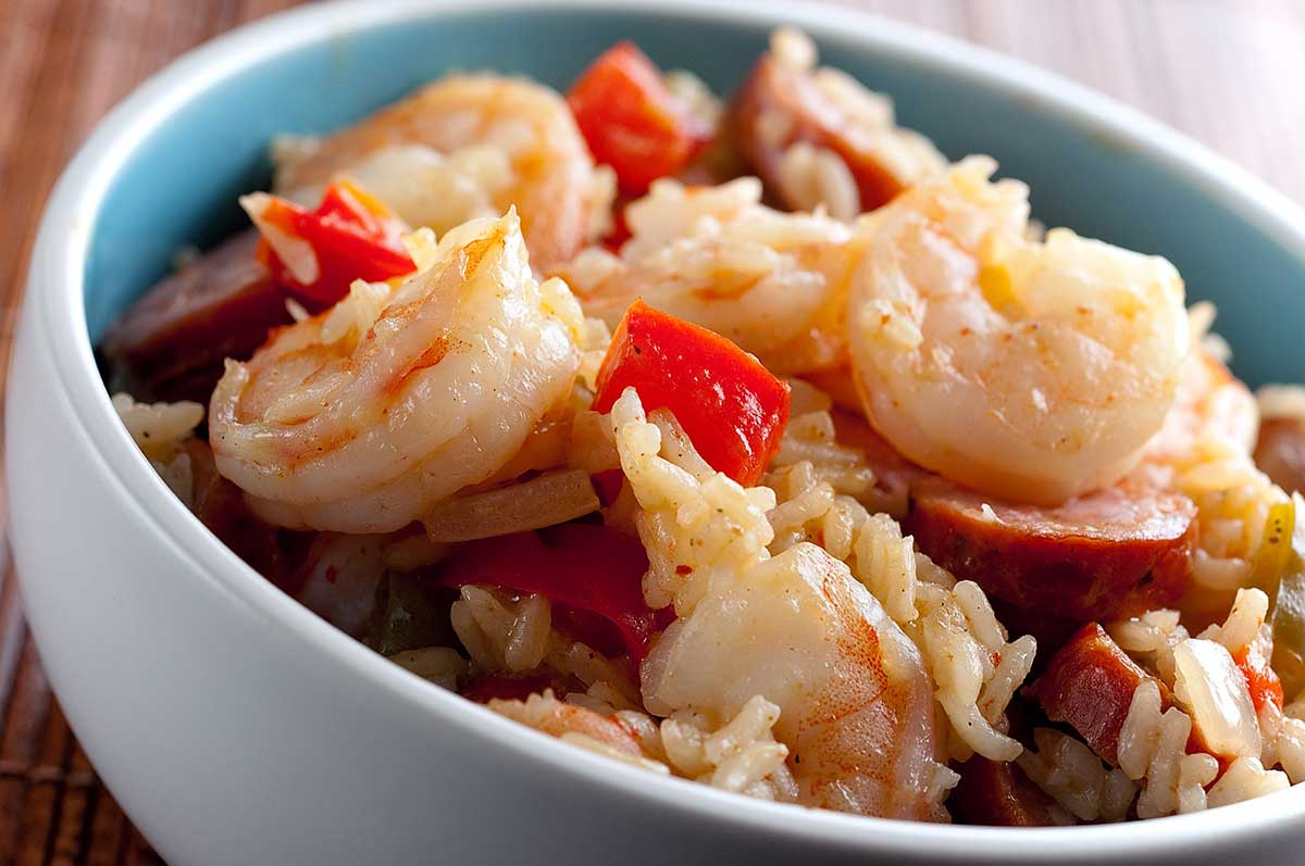 Recipe for Shrimp and Andouille Jambalaya - Life's Ambrosia Life's ...