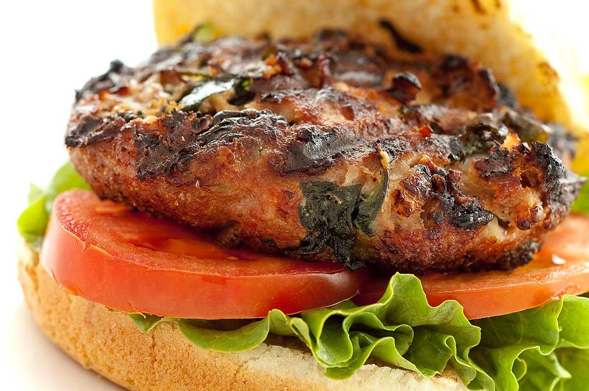 Spinach and Feta Turkey Burger