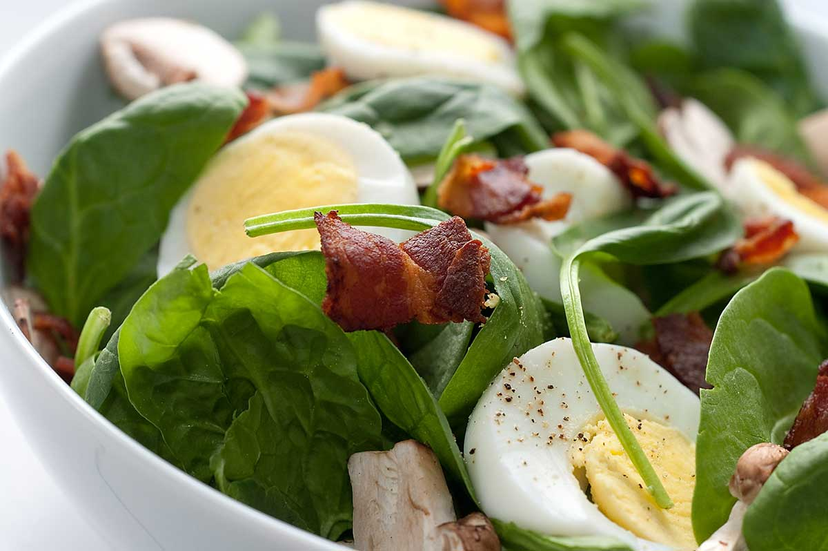 Recipe for Spinach Salad with Bacon Dressing - Life's Ambrosia Life's...
