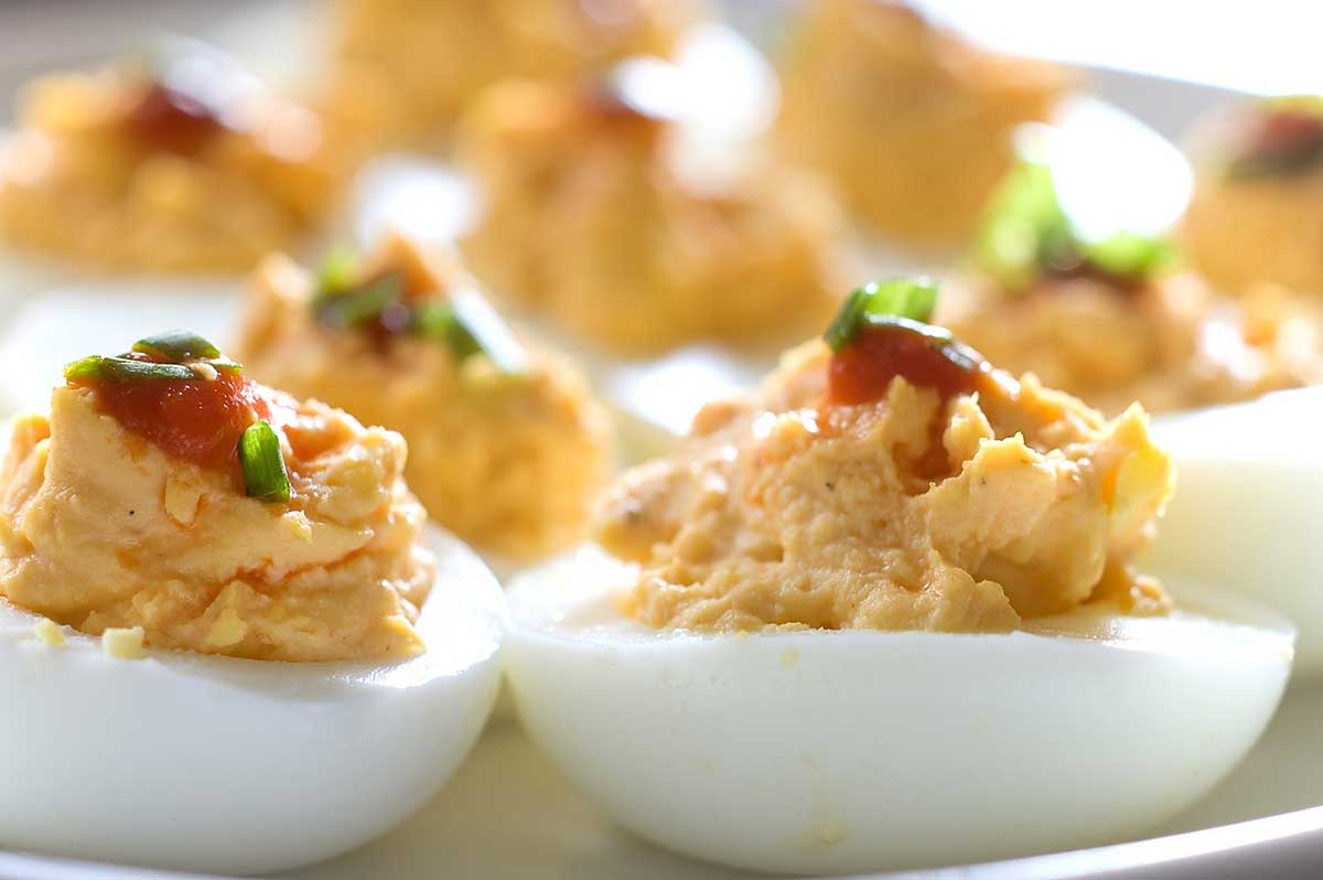 Recipe for sriracha deviled eggs life 39 s ambrosia life 39 s for Canape fillings indian