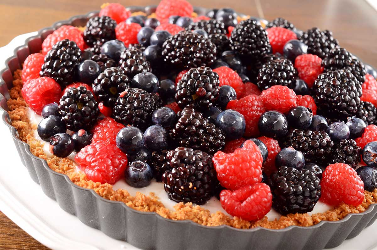 Recipe for Summer Berry and Coconut Pudding Tart - Life's Ambrosia ...