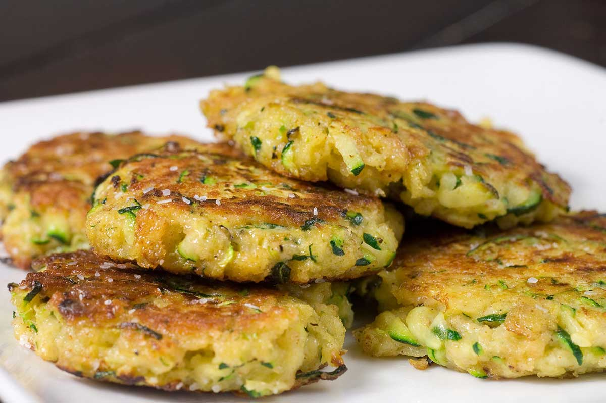 these zucchini cakes make an elegant appetizer fit for those upcoming ...
