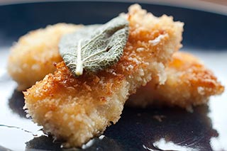 Crispy Cod with Sage Butter
