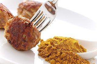 Curry Turkey Meatballs