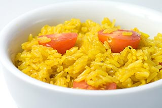 Yellow Rice with Cherry Tomatoes