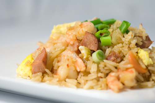 Andouille and Shrimp Fried Rice