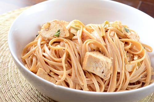 Creamy Hatch Chile and Chicken Pasta