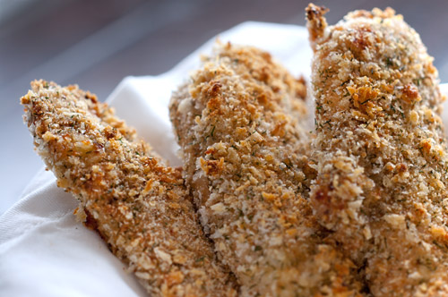 Crispy Dill and Garlic Chicken Tenders
