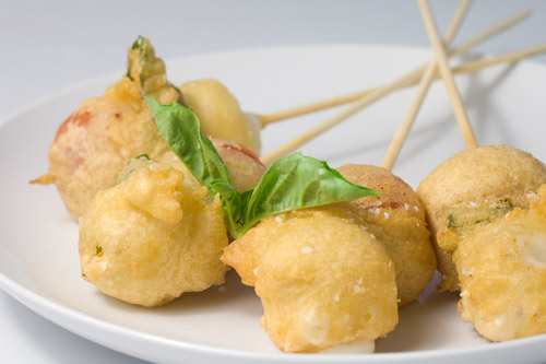 Fried Caprese Bites