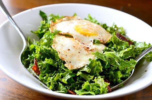 Kale Salad with Bacon Vinaigrette