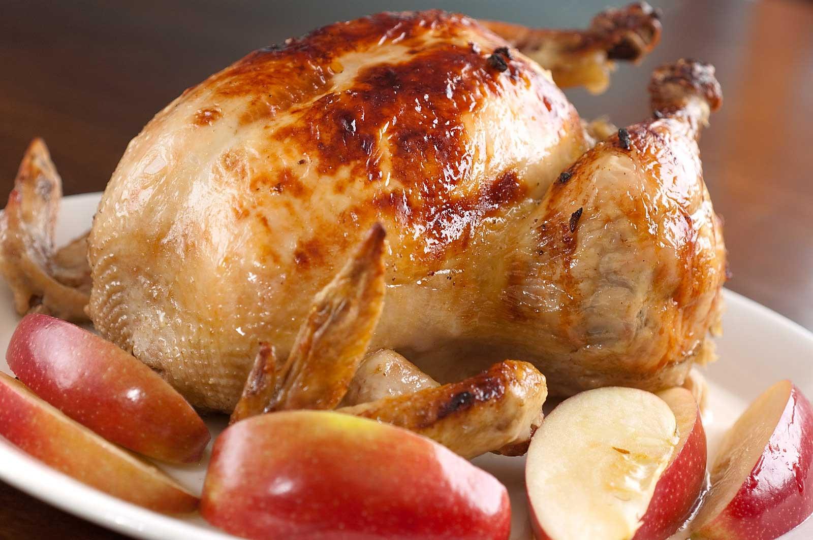 Куриные окорочка с яблоками в духовке пошаговый рецепт с
