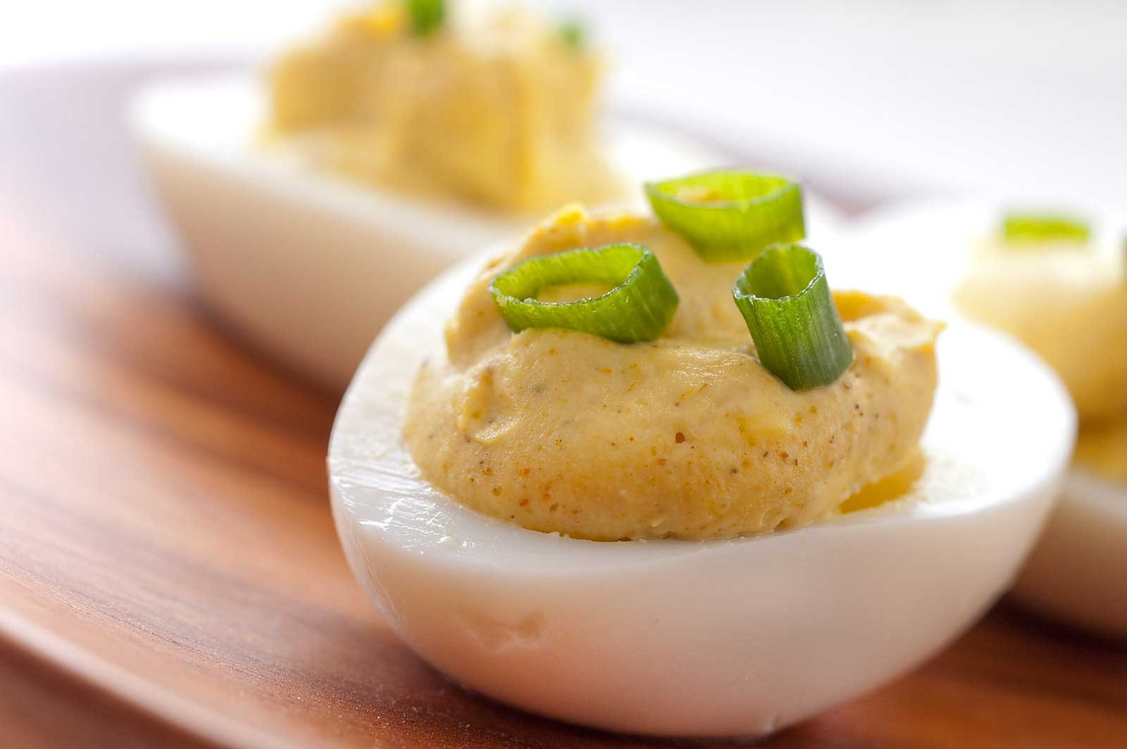 Recipe for Curried Deviled Eggs at Life's Ambrosia