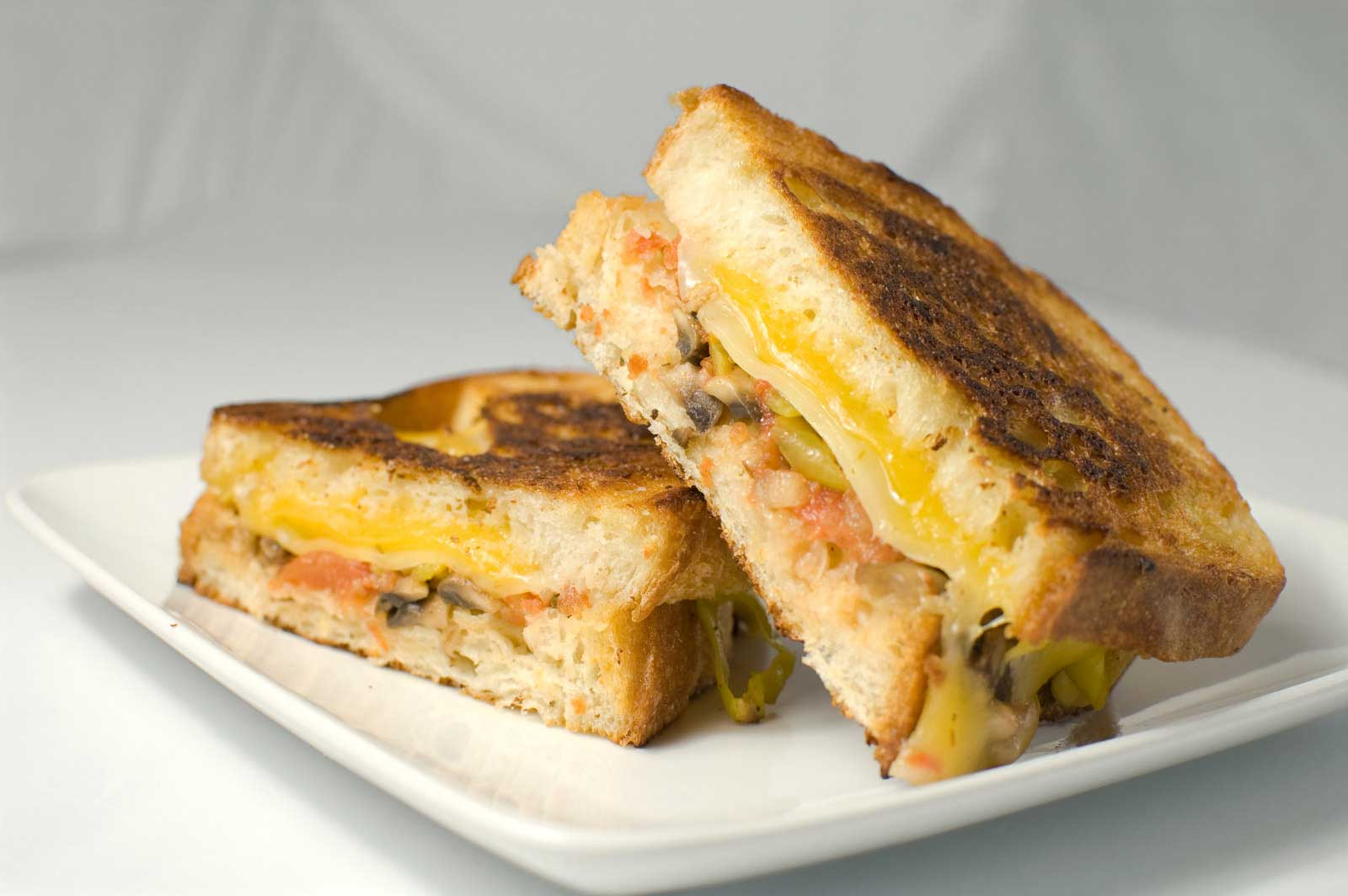 Recipe for Grilled Three Cheese Sandwich - Life's Ambrosia Life's ...