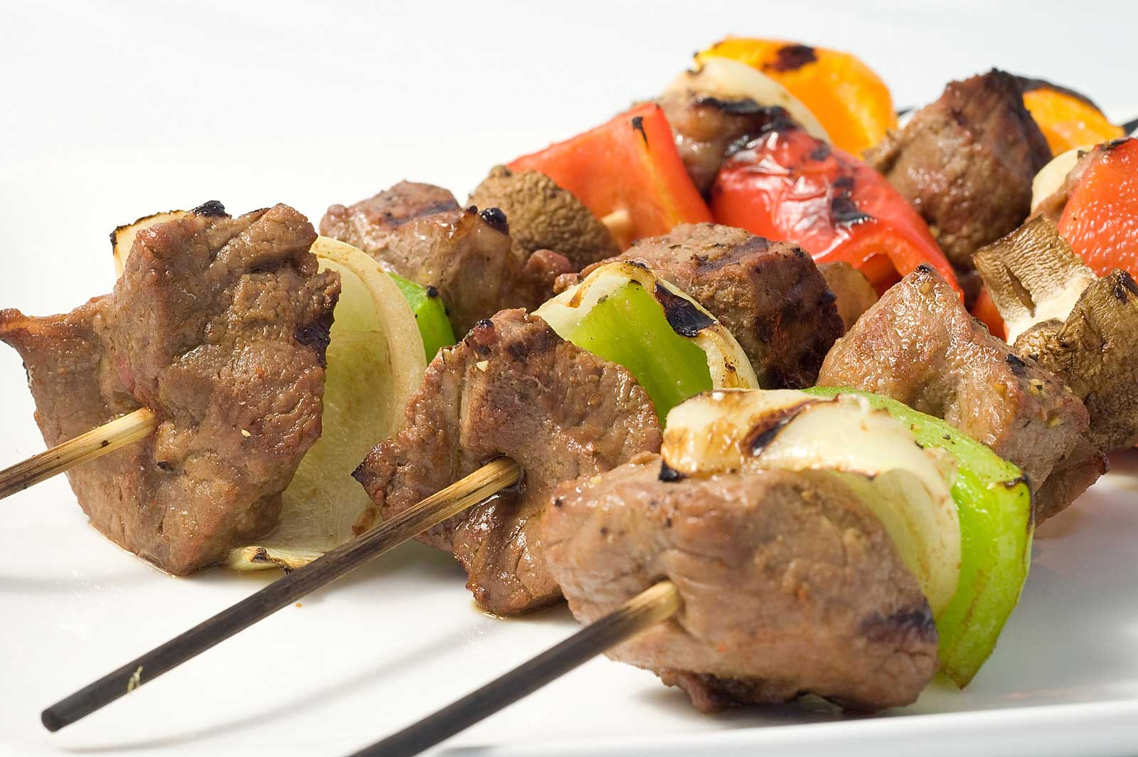 Marinated Beef & Veggie Skewers