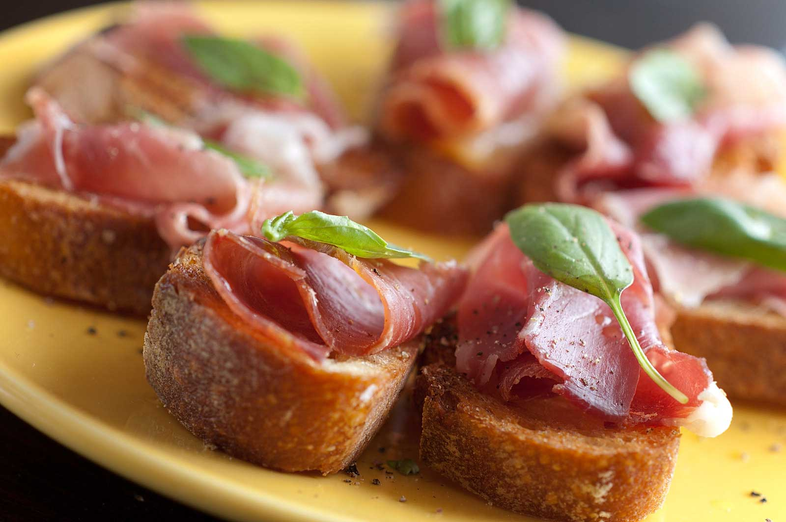 Recipe for Prosciutto and Basil Crostini - Life's Ambrosia Life's ...