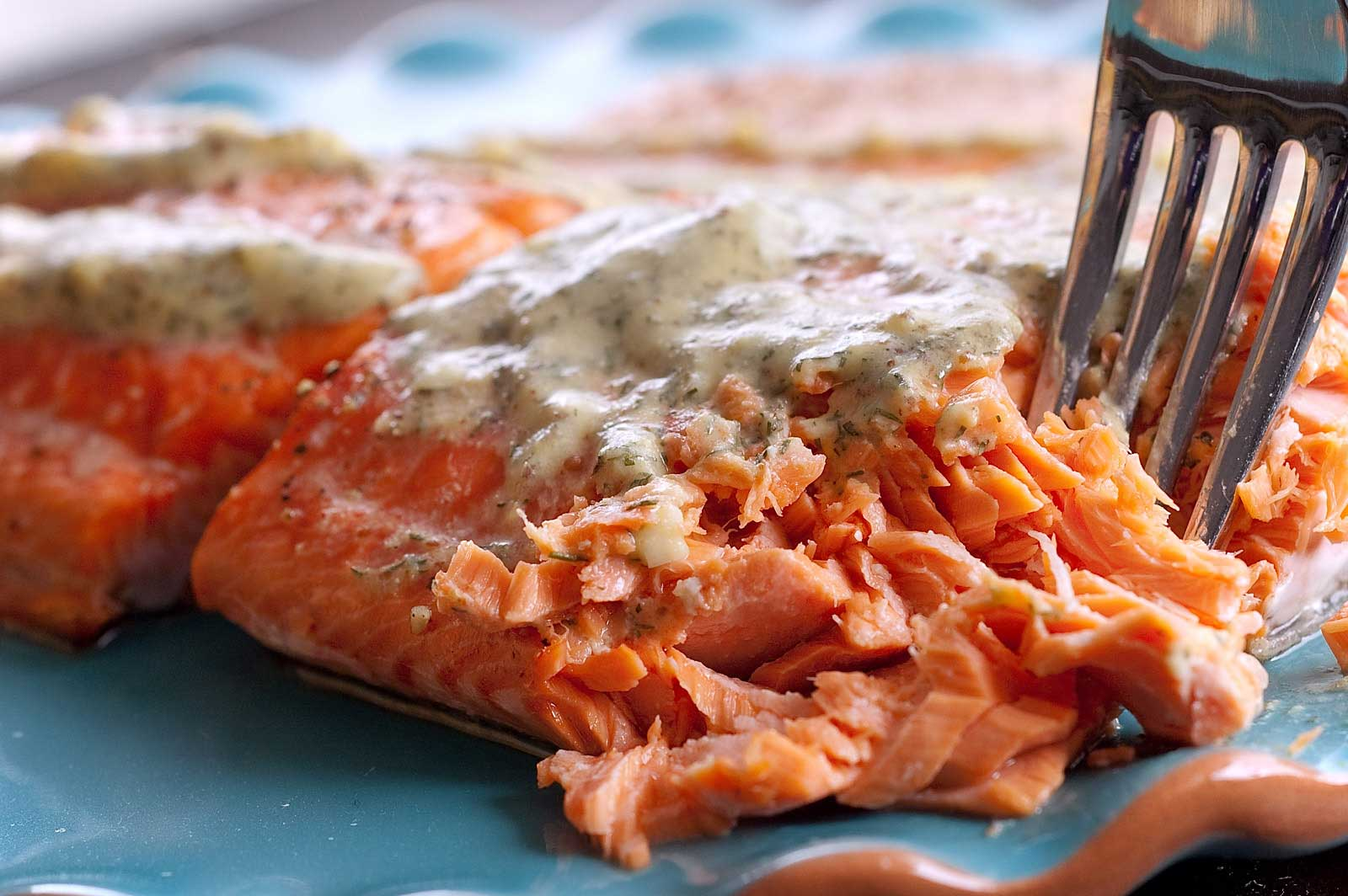 Salmon with Mustard Dill SauceLifes Ambrosia