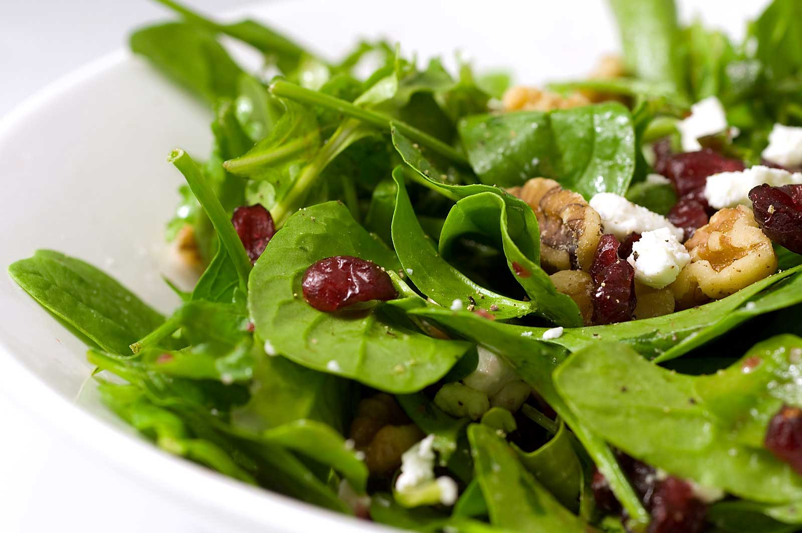 Recipe for Spinach, Arugula, Cranberry and Walnut Salad ...