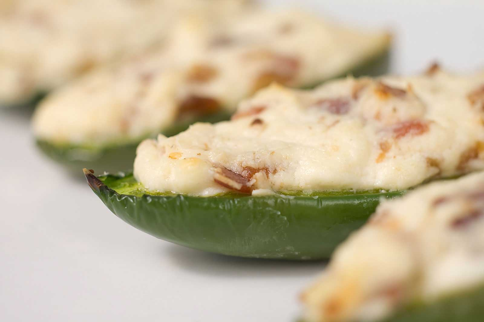 Jalapenos stuffed with cream cheese, goat cheese and bacon. The ...