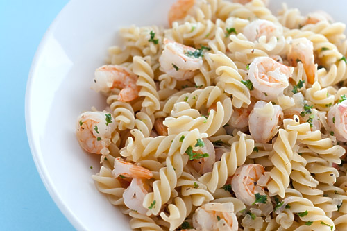 Lemon Pepper Shrimp with Fusilli