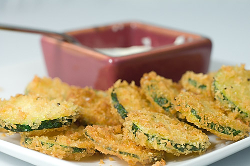 Fried Panko Crusted Zucchini