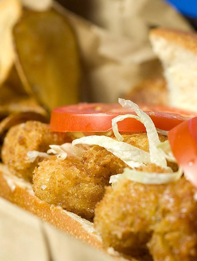 Recipe for Cajun Popcorn Shrimp Sandwich - Life's Ambrosia ...
