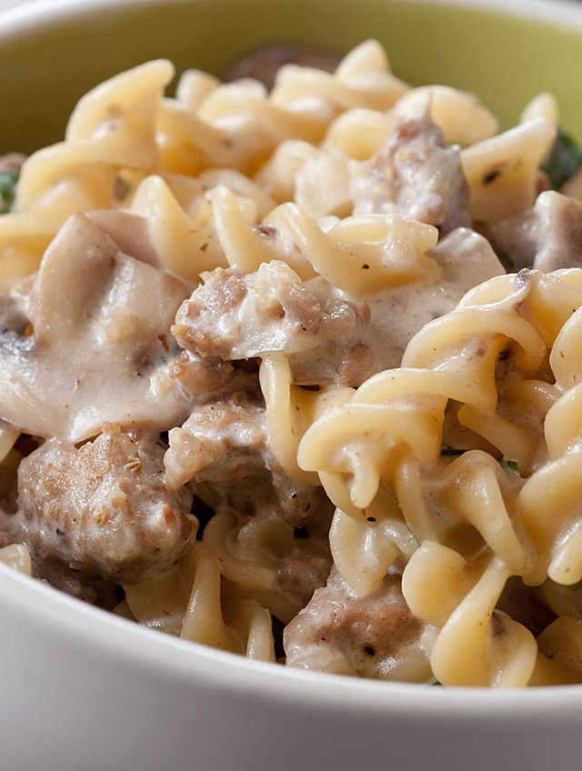 Recipe for Creamy Mushroom and Sausage Pasta - Life's Ambrosia Life's...