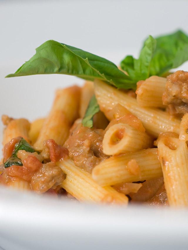 Fettuccine With Creamy Tomato Italian Sausage Sauce Recipes ...