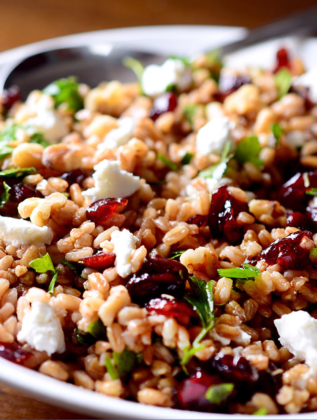 Recipe for Farro, Cranberry and Goat Cheese Salad - Life's Ambrosia ...