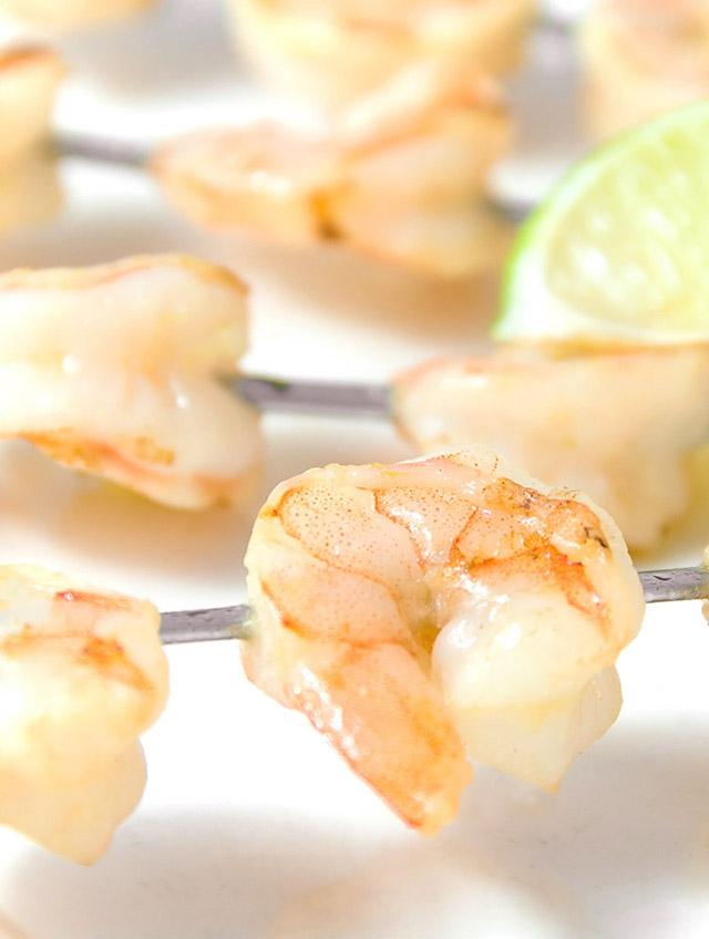 Garlic and Lime Shrimp Skewers