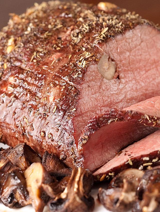Garlic Studded Herb Roast Beef