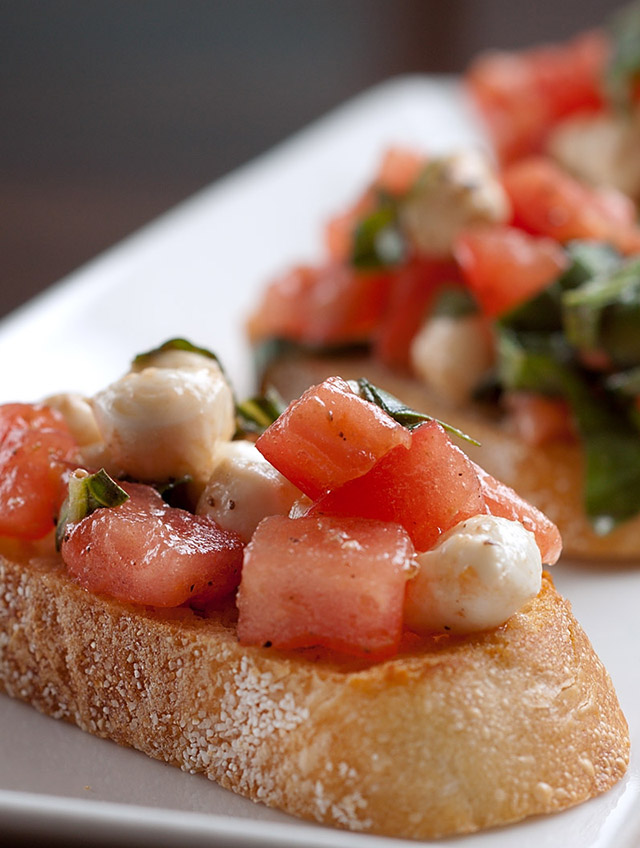 Recipe for Heirloom Tomato and Mozzarella Bruschetta - Life's Ambrosia ...