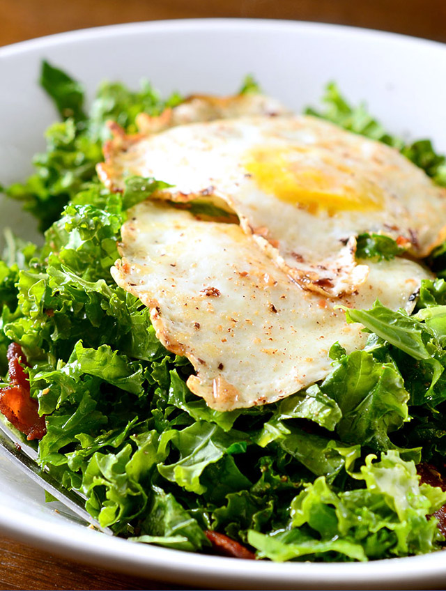 Kale Salad with Bacon Vinaigrette